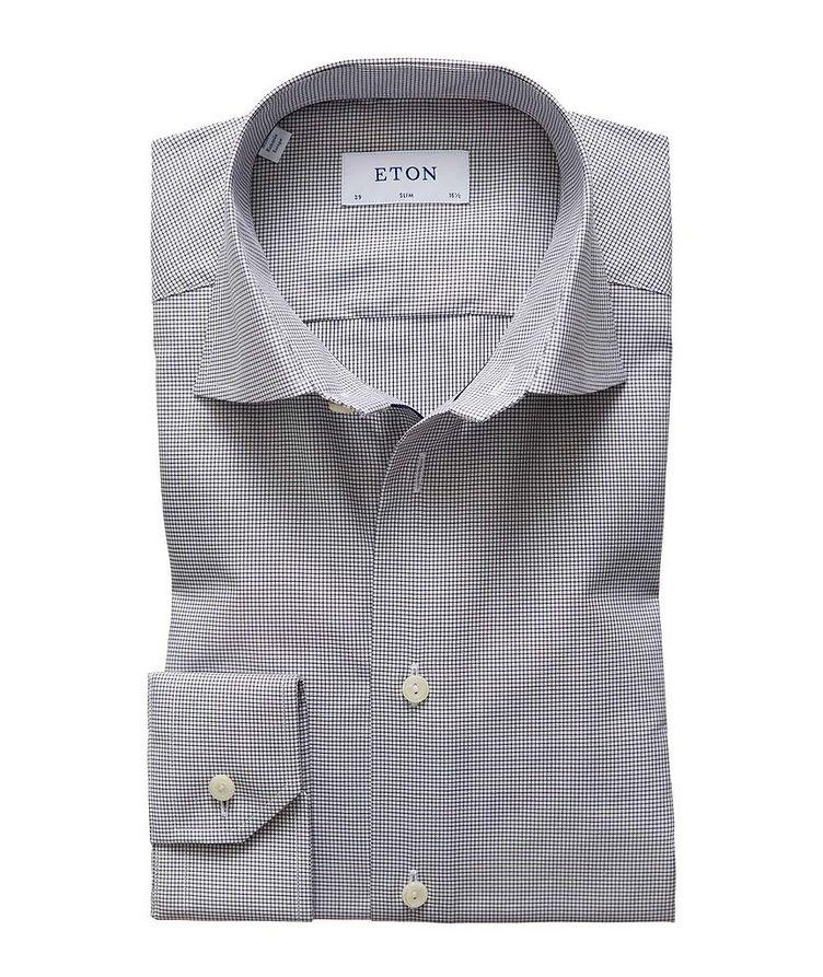 Slim Fit Mini-Checked Dress Shirt image 0