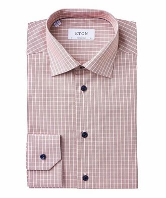 Eton Contemporary Fit Printed Dress Shirt