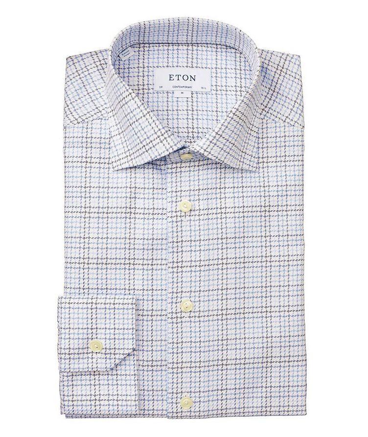 Chemise habillée quadrillée de coupe contemporaine image 0