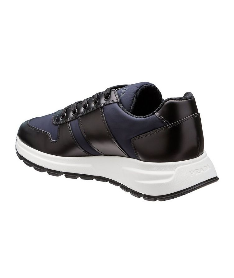 Match Race Leather & Nylon Sneakers image 1