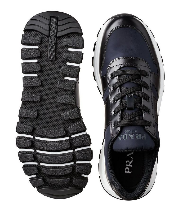 Match Race Leather & Nylon Sneakers image 2