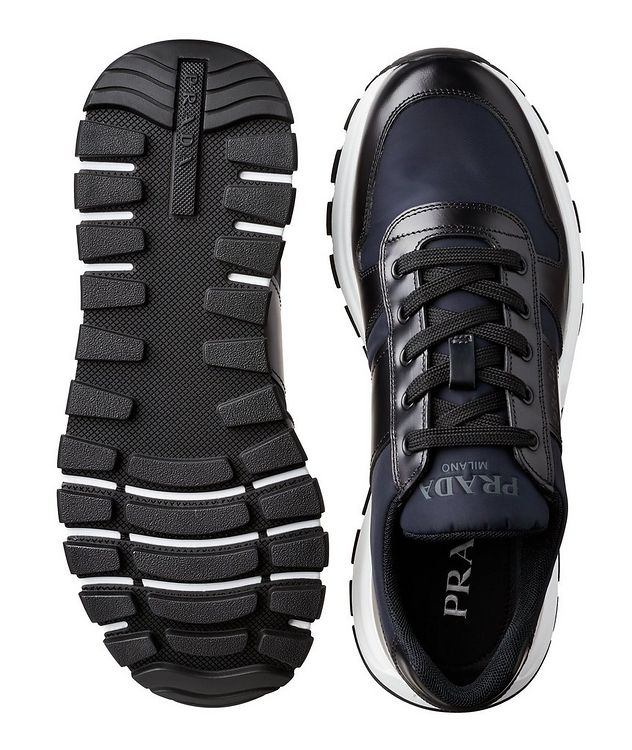 Match Race Leather & Nylon Sneakers picture 3