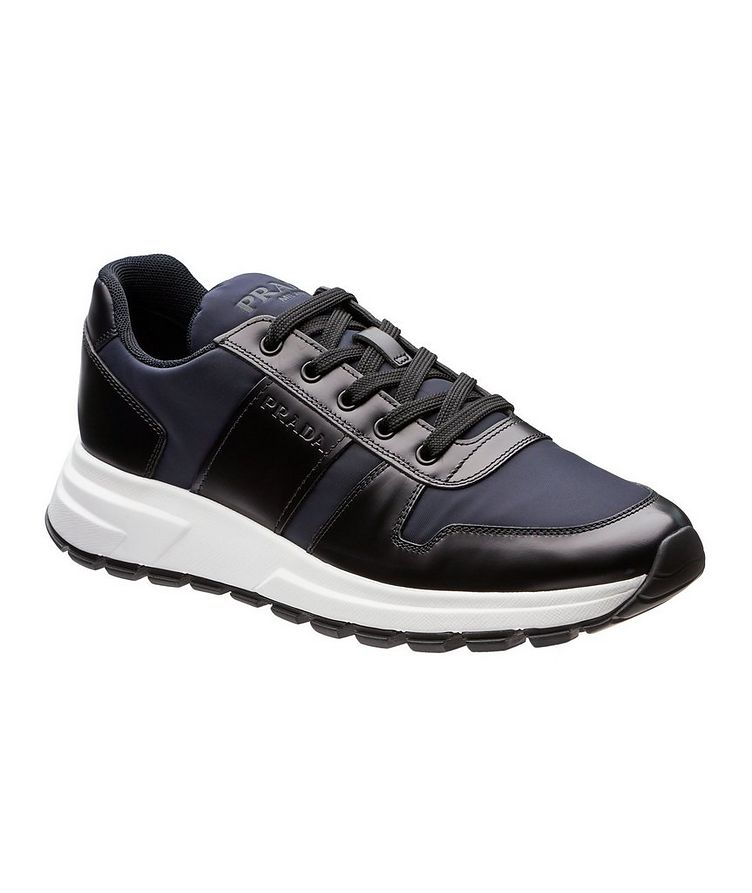 Match Race Leather & Nylon Sneakers image 0