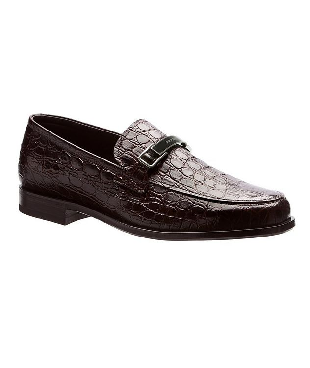 Flâneur en cuir à motif crocodile picture 1