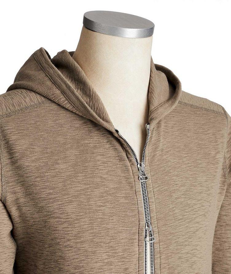 Zip-Up Cotton Hoodie image 1