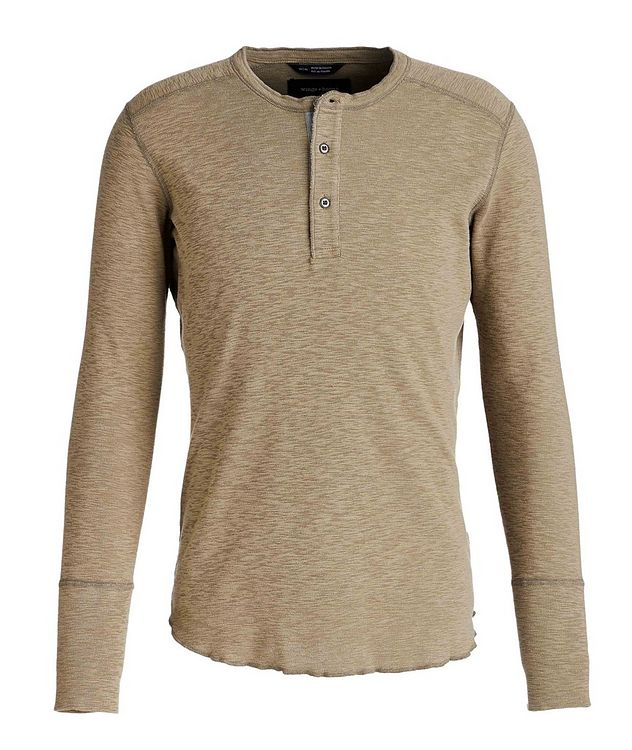 Burnout Cotton Henley picture 1