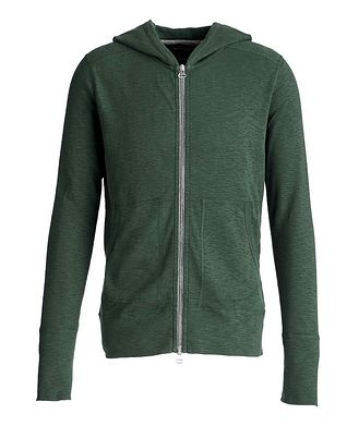 Wings & Horns Zip-Up Burnout Hoodie