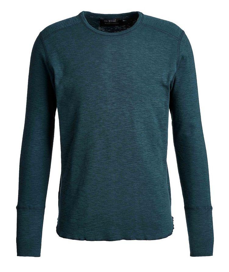 Burnout Long-Sleeve Cotton T-Shirt image 0