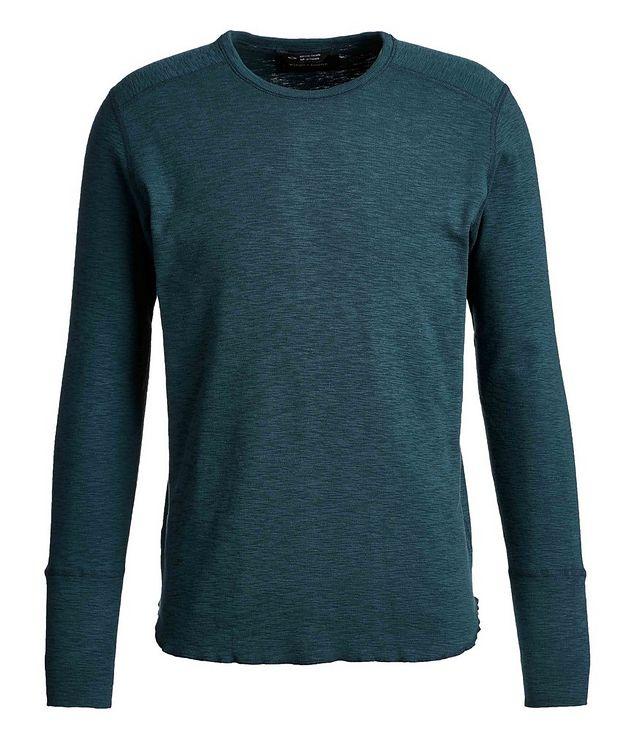 Burnout Long-Sleeve Cotton T-Shirt picture 1