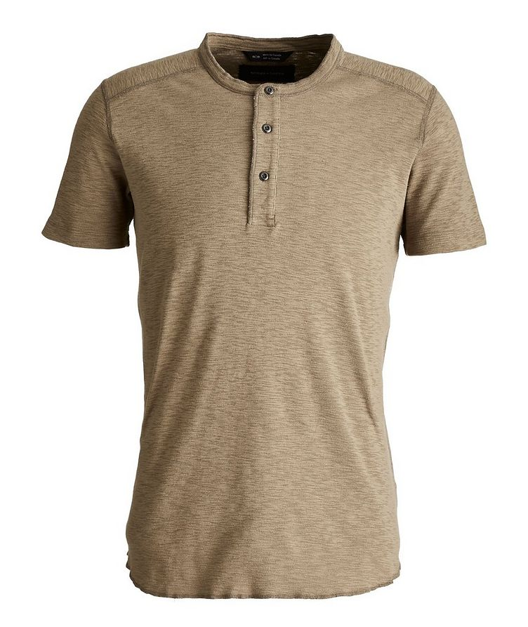 1x1 Short-Sleeve Slub-Cotton Henley image 0