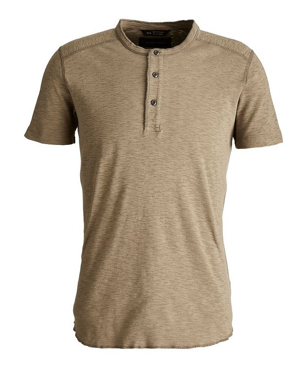 1x1 Short-Sleeve Slub-Cotton Henley picture 1