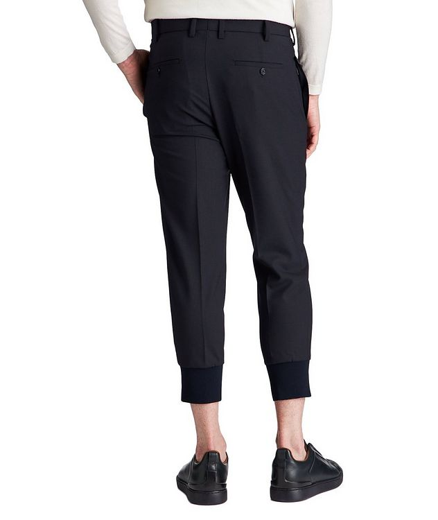 Pantalon habillé en lainage extensible de coupe amincie picture 2