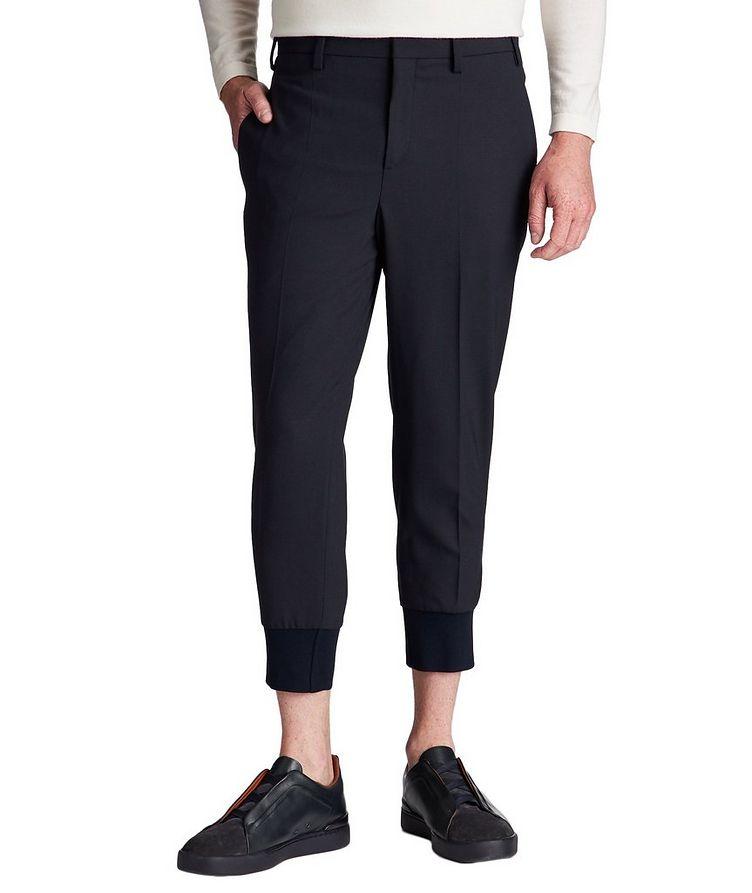 Slim Fit Stretch-Virgin Wool Dress Pants image 0