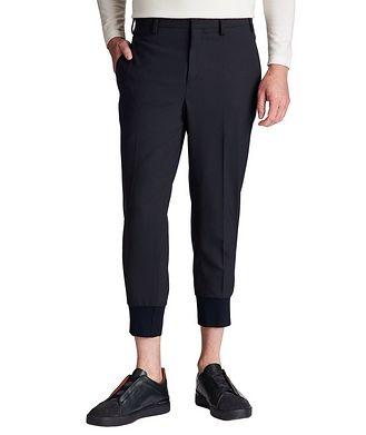 Neil Barrett Slim Fit Stretch-Virgin Wool Dress Pants