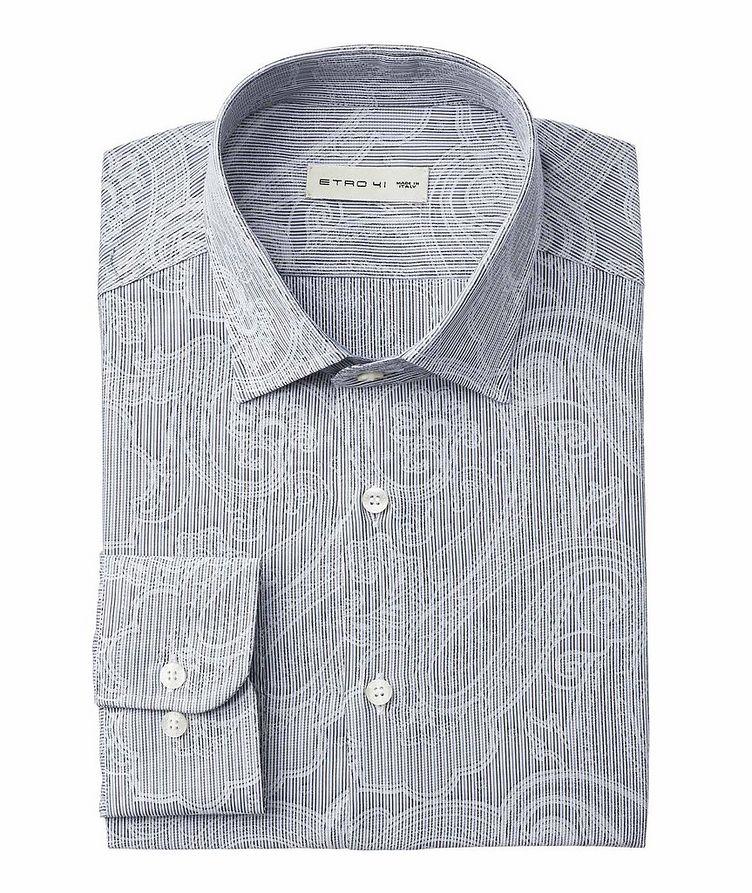 Striped & Paisley-Printed Cotton Shirt image 0