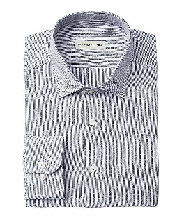 Striped & Paisley-Printed Cotton Shirt picture 1