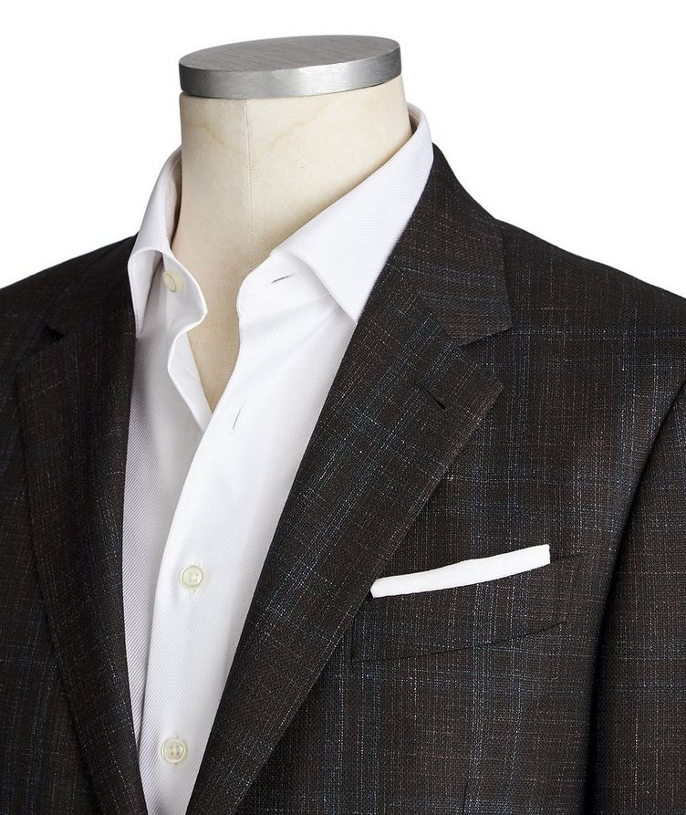 Milano Easy Checked Wool, Cashmere, Silk & Linen Sports Jacket image 1