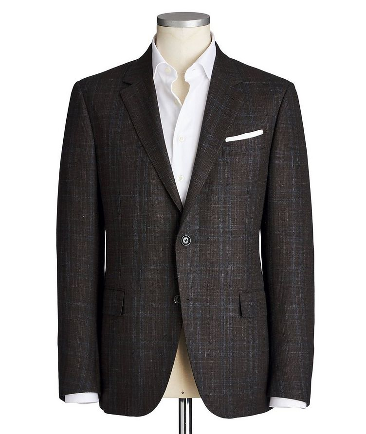 Milano Easy Checked Wool, Cashmere, Silk & Linen Sports Jacket image 0
