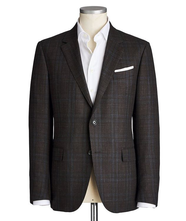 Milano Easy Checked Wool, Cashmere, Silk & Linen Sports Jacket picture 1