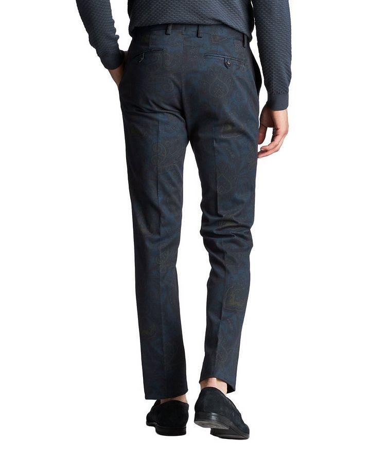 Slim Fit Paisley Dress Pants image 1