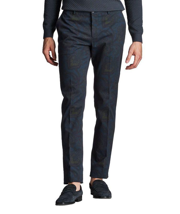 Slim Fit Paisley Dress Pants image 0