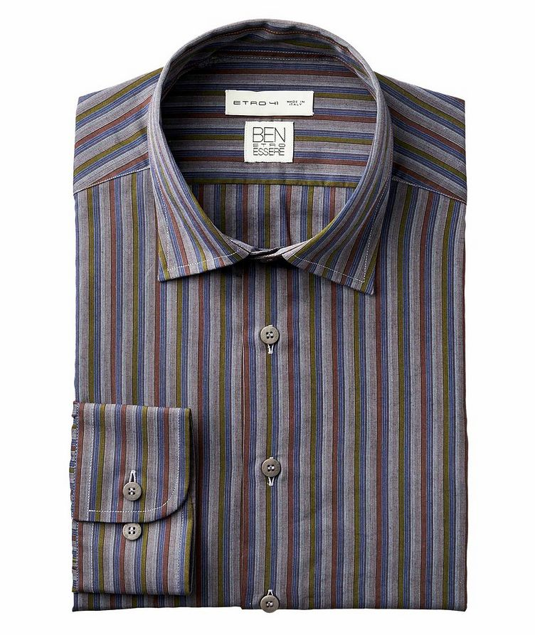 Striped Organic Cotton-Blend Shirt image 0