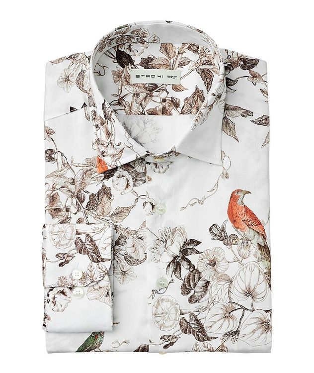 Botanical Sketch-Printed Cotton Shirt picture 1