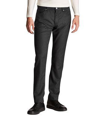 Ermenegildo Zegna Straight Fit Stretch-Wool Pants