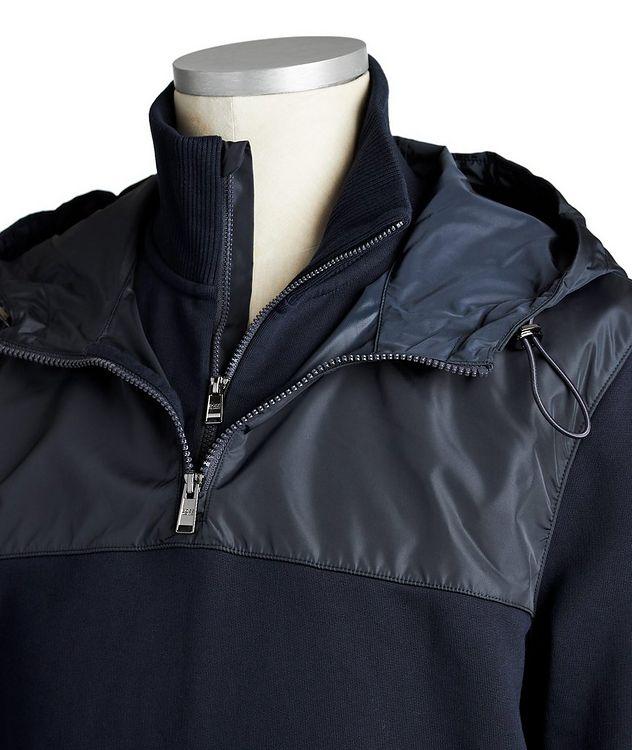 Half-Zip Cotton Hoodie picture 3
