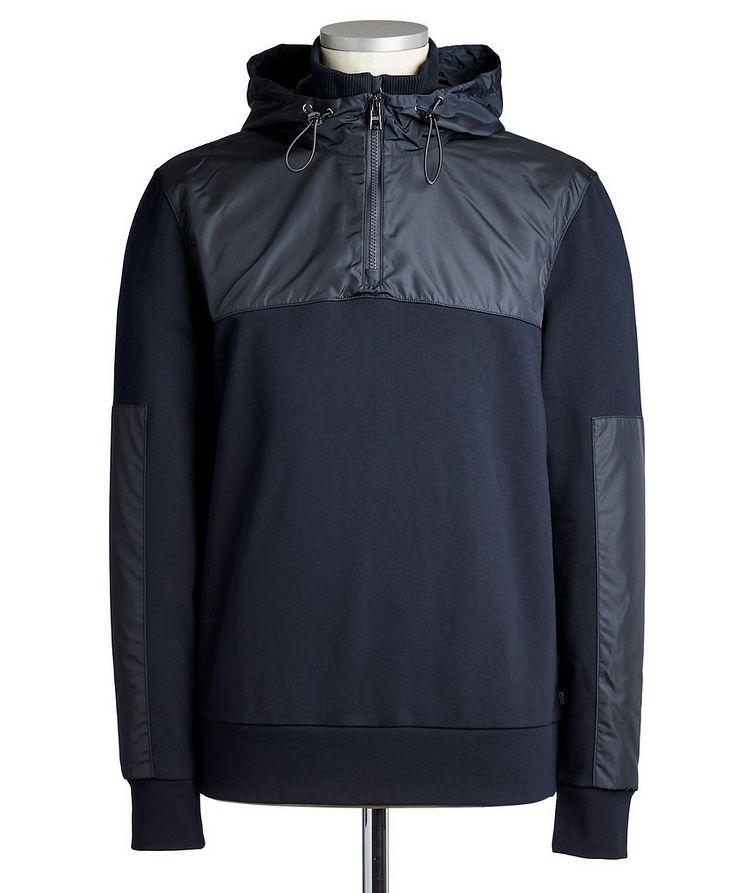 Half-Zip Cotton Hoodie image 0