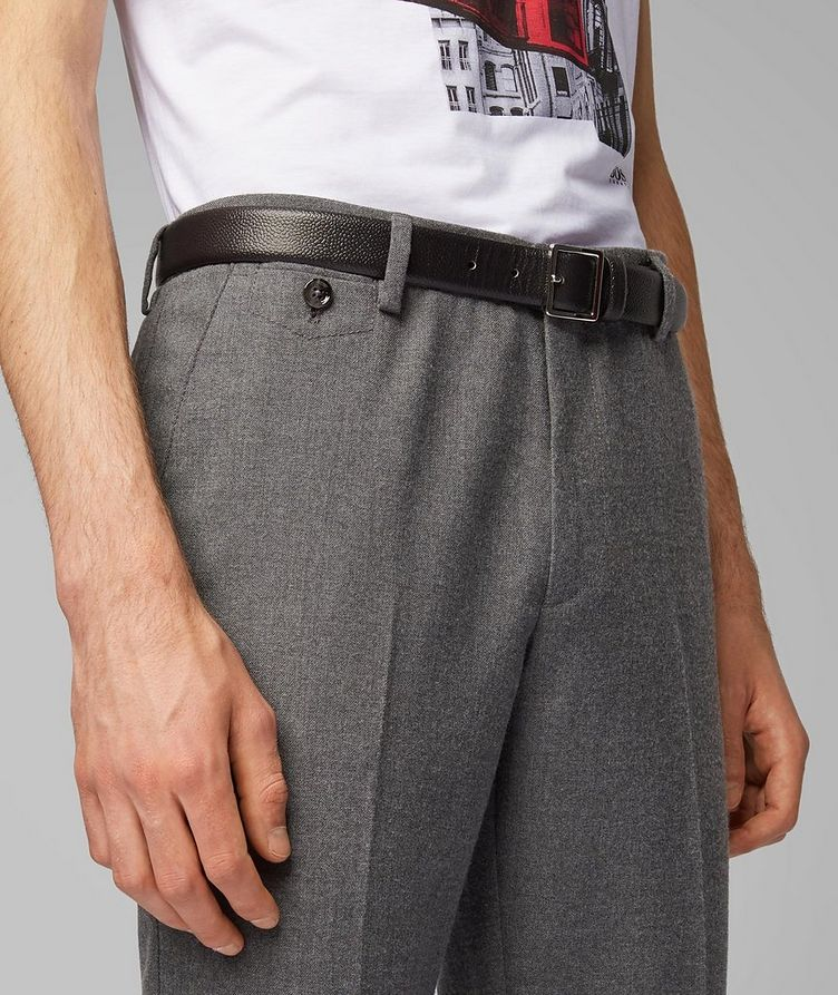 Kaito Brushed Wool-Blend Trousers image 3