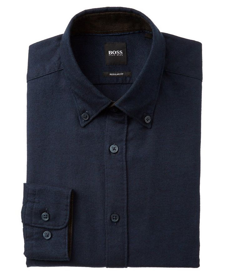 Contemporary Fit Cotton-Flannel Shirt image 0