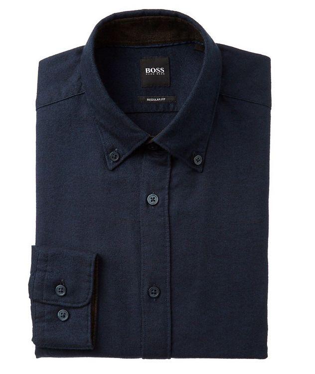 Contemporary Fit Cotton-Flannel Shirt picture 1