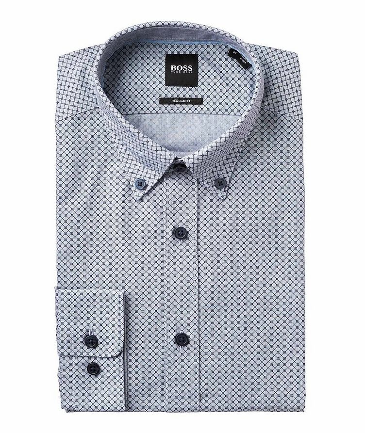 Contemporary Fit Neat-Printed Cotton Shirt image 0