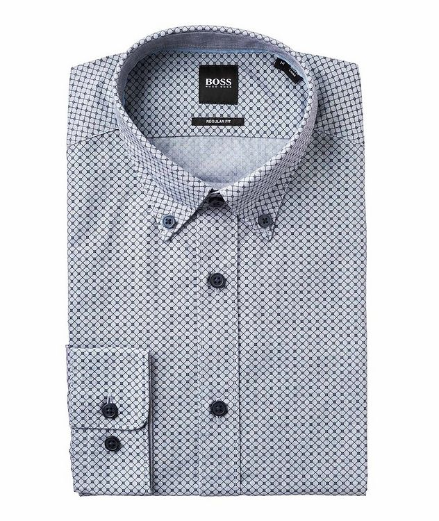Contemporary Fit Neat-Printed Cotton Shirt picture 1
