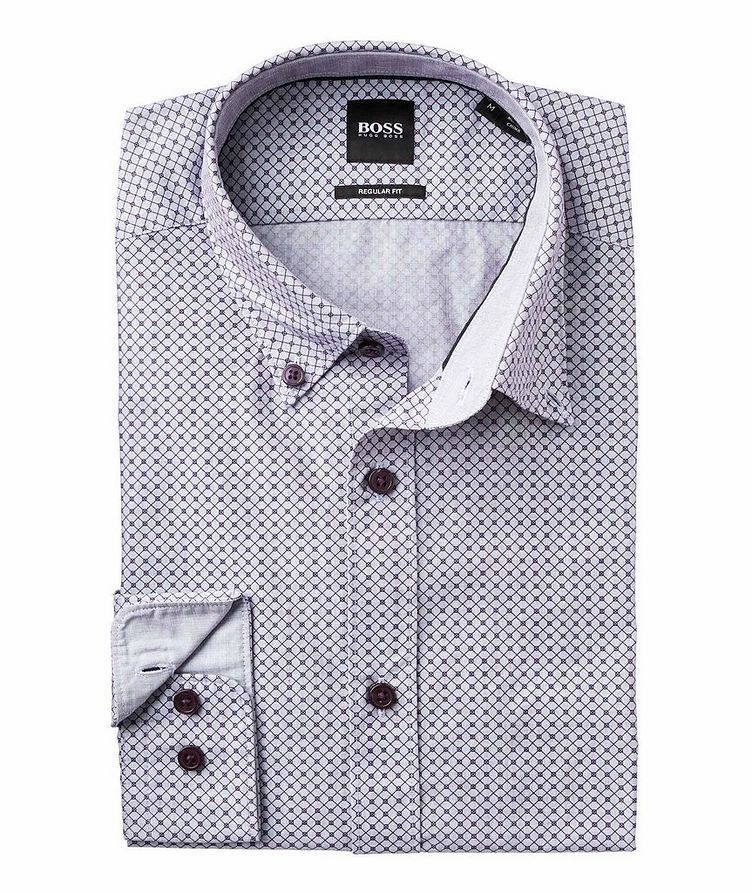 Contemporary Fit Neat-Printed Cotton Shirt image 1