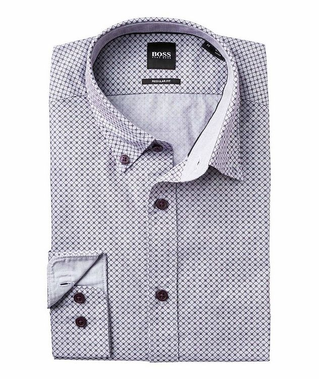 Contemporary Fit Neat-Printed Cotton Shirt picture 2