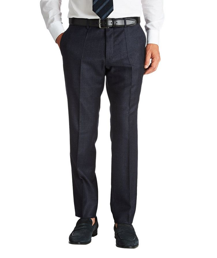 Slim Fit Checked Dress Pants image 0