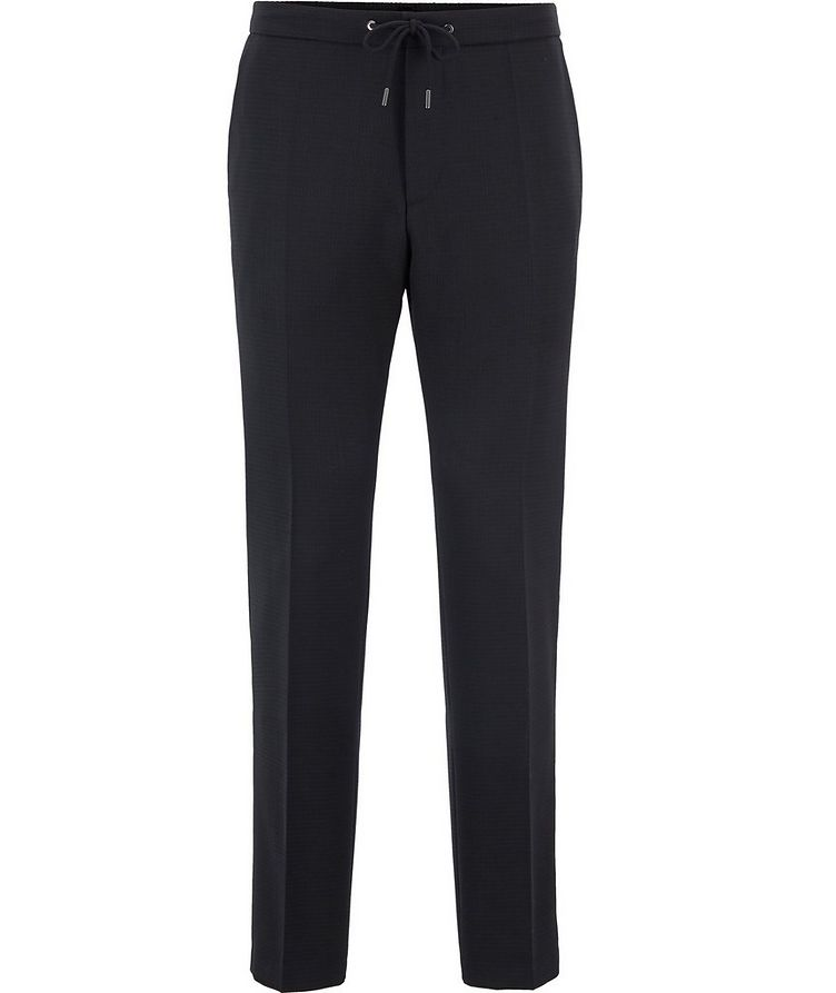 Slim Fit Stretch-Wool Dress Pants image 0