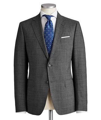 Z Zegna Drop 8 Glen Checked Wool Suit