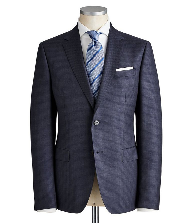 Drop 8 Checkered Wool Suit image 0