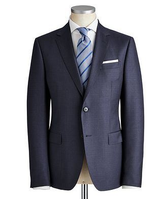 Z Zegna Drop 8 Checkered Wool Suit