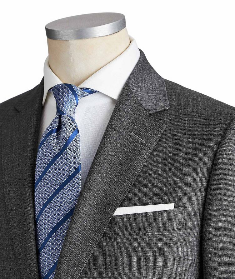 Drop 8 Crosshatched Wool Suit image 1