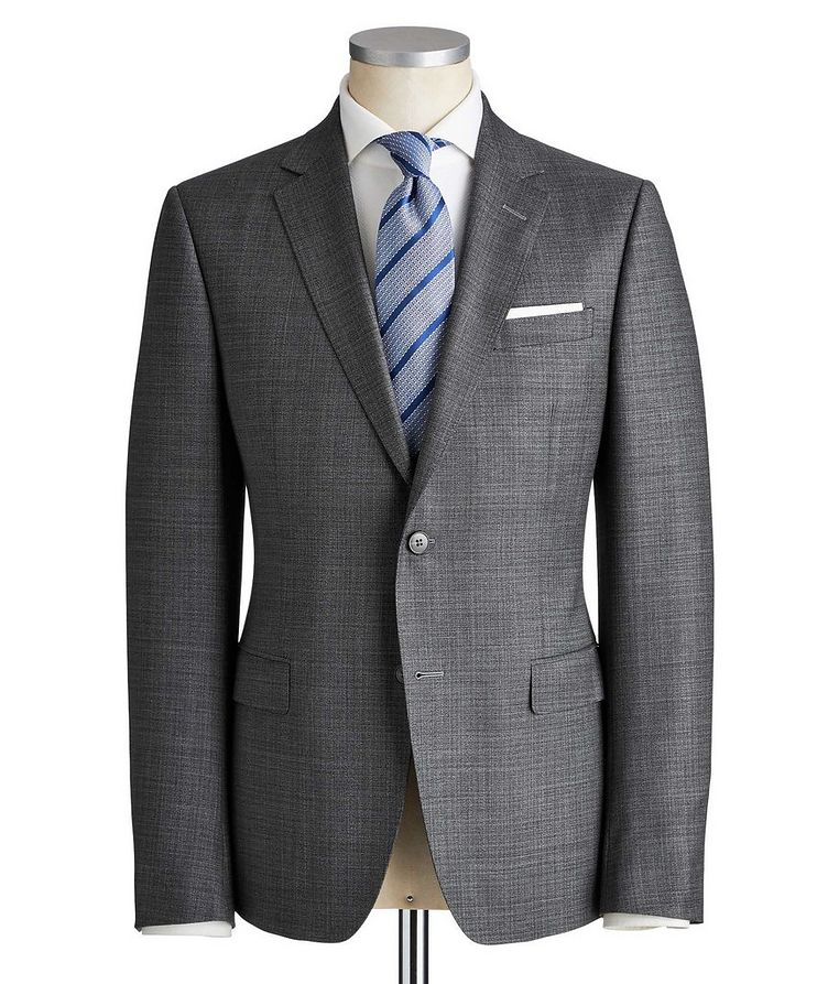 Drop 8 Crosshatched Wool Suit image 0