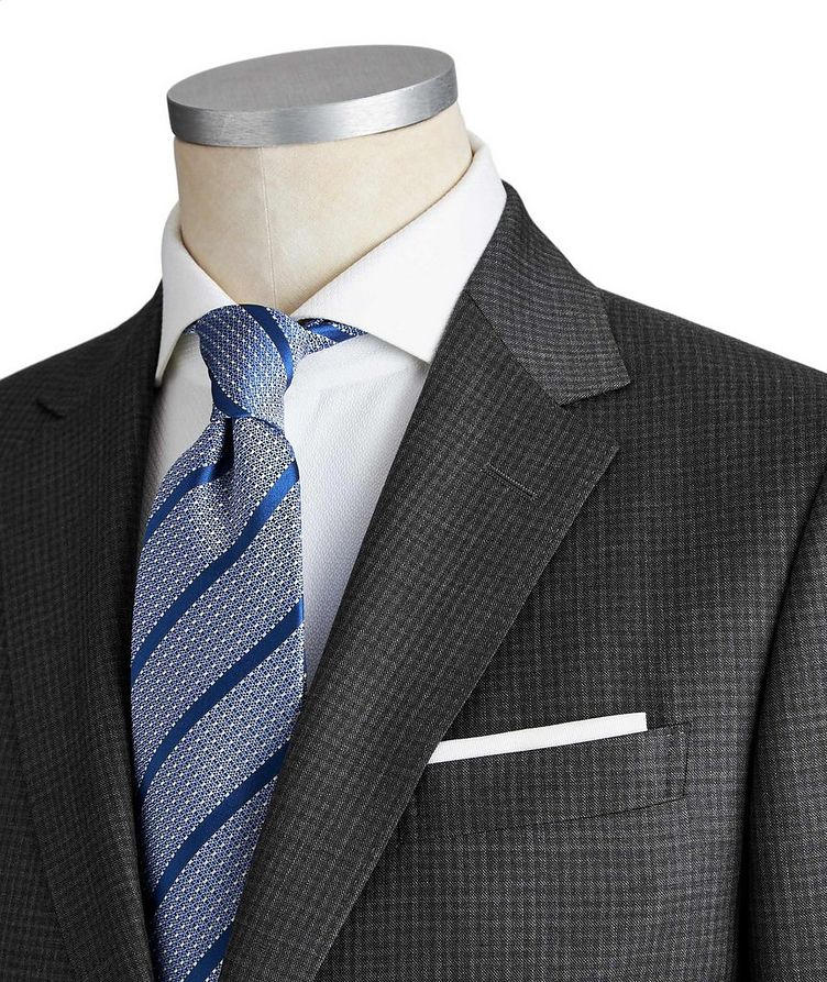 Drop 8 Micro-Checkered Wool Suit image 1