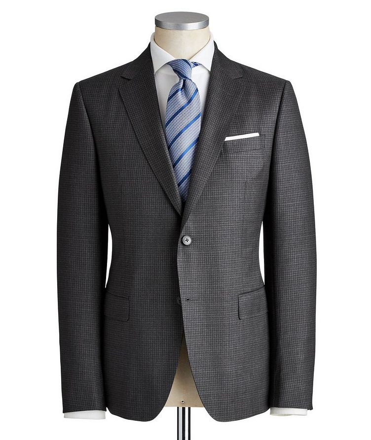 Drop 8 Micro-Checkered Wool Suit image 0
