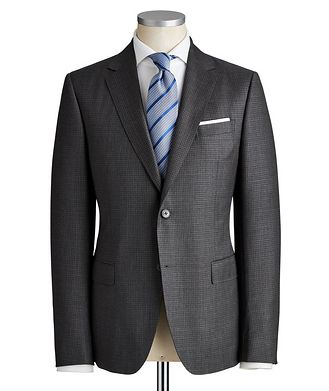 Z Zegna Drop 8 Micro-Checkered Wool Suit