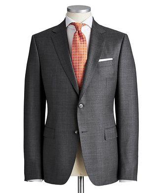 Z Zegna Drop 8 Crosshatched Wool Suit