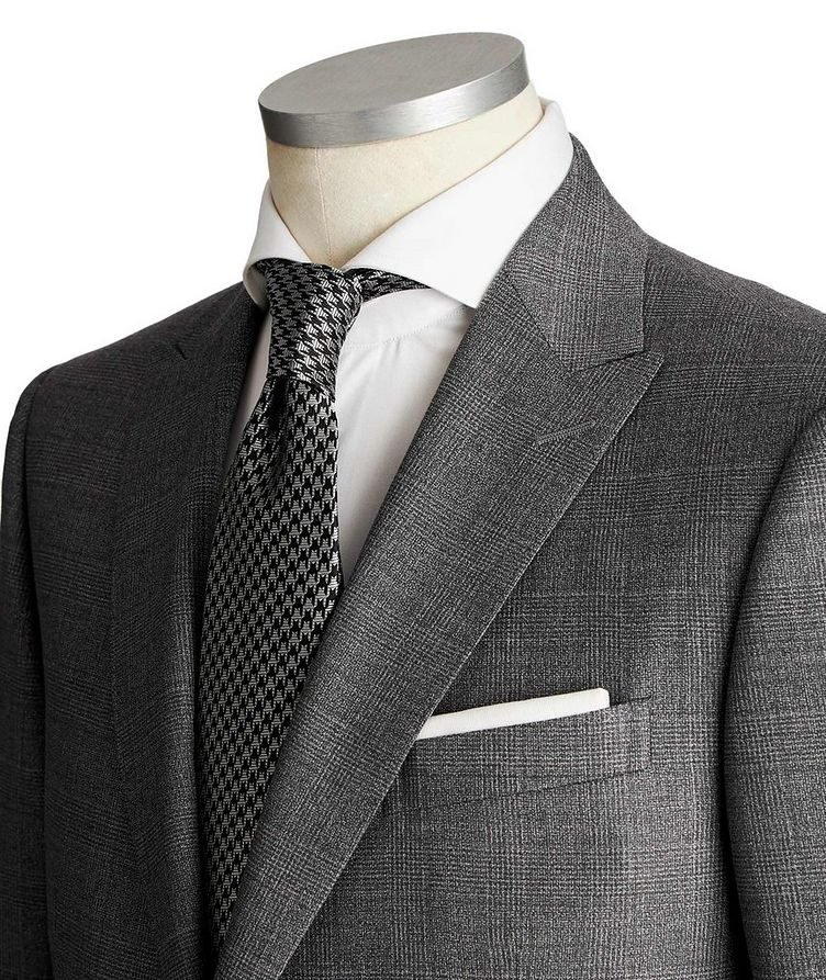 Drop 8 Checked Wool Suit image 1