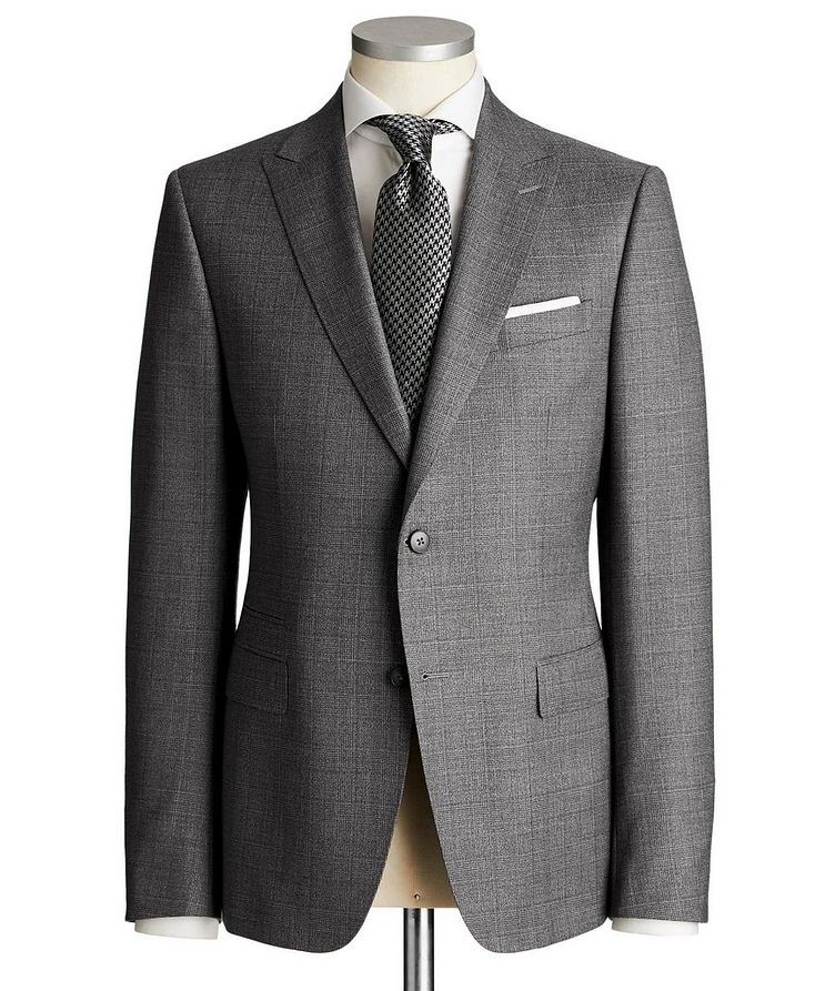 Drop 8 Checked Wool Suit image 0